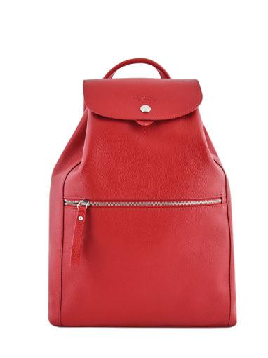 Longchamp Le foulonné Sac à dos Rouge