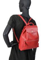 Longchamp Le foulonné Backpack Red-vue-porte