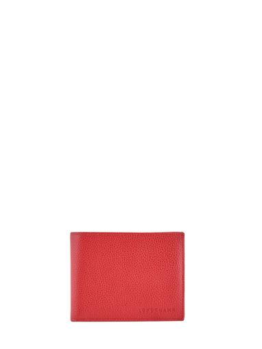 Longchamp Porte billets/cartes Rouge