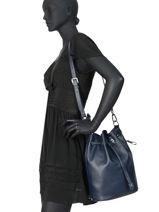 Longchamp Le foulonné Hobo bag Blue-vue-porte