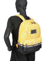 Sac à Dos 1 Compartiment Superdry Jaune backpack woomen W9110016-vue-porte