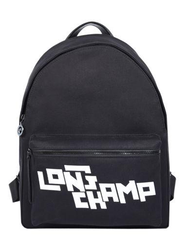 Longchamp Le pliage lgp stamp Backpack Black
