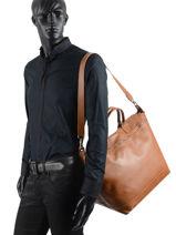 Longchamp Le foulonné Travel bag Brown-vue-porte