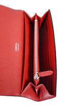 Leather Wallet Néo Charlie Lancel Red neo charlie A10513-vue-porte