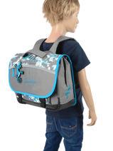 Satchel For Kids 2 Compartments Cameleon Gray basic BAS-CA38-vue-porte