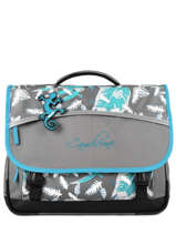 Satchel For Kids 3 Compartments Cameleon Gray basic BAS-CA41