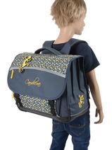 Cartable Enfant 3 Compartiments Cameleon Bleu basic BAS-CA41-vue-porte