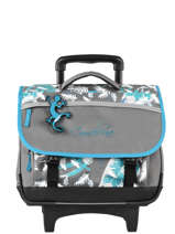 Wheeled Schoolbag For Kids 2 Compartments Cameleon Gray basic BAS-CR38