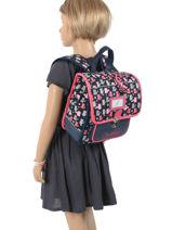 Backpack Cameleon Blue retro RET-SD30-vue-porte