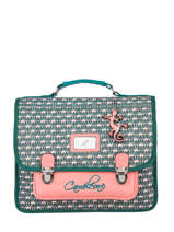 Satchel For Kids 2 Compartments Cameleon Green retro RET-CA35
