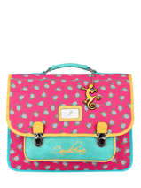 Cartable Enfant 2 Compartiments Cameleon Rose retro RET-CA38