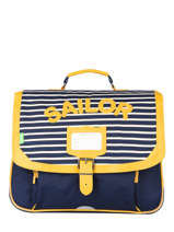 Cartable 2 Compartiments Tann's Bleu fantaisie garcon 20-38226