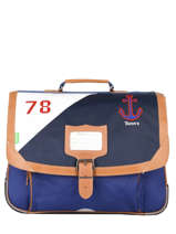 Satchel 2 Compartments Tann's Blue fantaisie garcon 20-38229