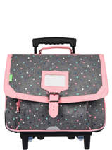 Wheeled Schoolbag 2 Compartments Tann's les chines 42133