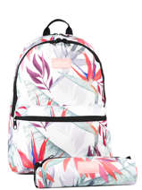 Backpack 2 Compartments + Pencil Case Rip curl White frame deal girl LBPDL4