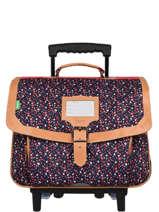 Wheeled Schoolbag 2 Compartments Tann's Blue fantaisie fille 20-42262