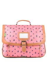 Satchel 2 Compartments Tann's Pink fantaisie fille 20-38163