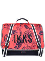 Cartable 2 Compartiments Ikks Bleu urban rallye 38834