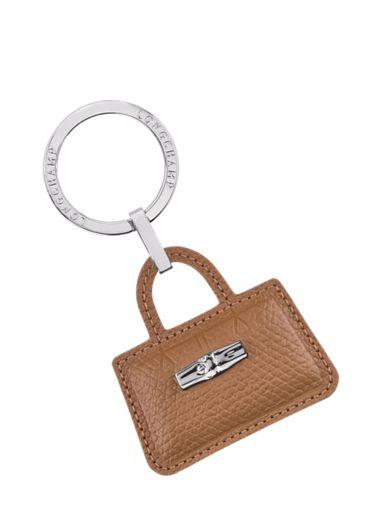 Longchamp Roseau Porte clés Marron