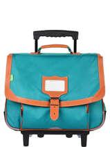 Wheeled Schoolbag 2 Compartments Tann's Blue les unis 42115
