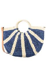 Raffia Handbag Beach Miniprix Blue beach FS60
