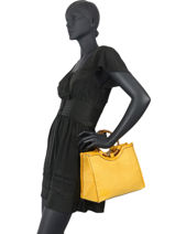 Handbag Sun With Round Handle Miniprix Yellow sun BV20057-vue-porte