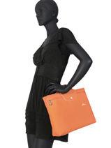 Longchamp Le pliage club Briefcase Black-vue-porte