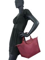 Longchamp Le pliage club Handbag Red-vue-porte