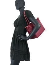 Longchamp Le pliage club Hobo bag Red-vue-porte