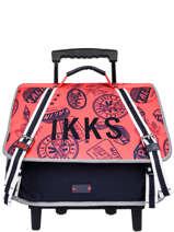 Wheeled Schoolbag 2 Compartments Ikks Blue urban rallye 42834