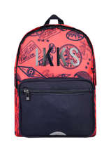 Backpack 2 Compartments Ikks Blue urban rallye 63834