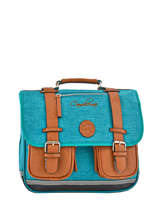 Satchel For Kids 2 Compartments Cameleon Blue vintage chine VIN-CA35