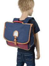 Schoolbag 2 Compartments Kickers Blue boy 669470-vue-porte