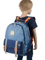 Backpack 2 Compartments Kickers Blue boy 738470-vue-porte