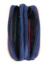 Pencil Case 2 Compartments Kickers Gray boy 668470-vue-porte