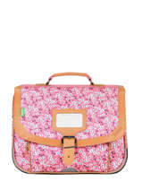 Cartable 1 Compartiment Tann's Rose fantaisie fille 32263