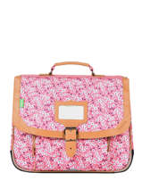 Cartable 1 Compartiment Tann's Rose fantaisie fille 35263