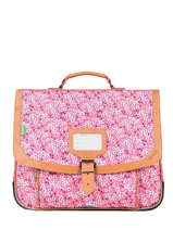 Cartable 2 Compartiments Tann's Rose fantaisie fille 38263