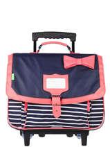 Wheeled Schoolbag 2 Compartments Tann's Blue fantaisie fille 42152