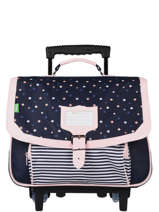 Wheeled Schoolbag 2 Compartments Tann's fantaisie fille 42282