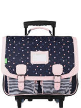 Wheeled Schoolbag 2 Compartments Tann's fantaisie fille 43282
