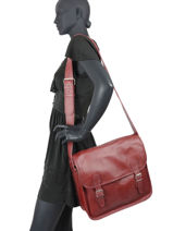 Crossbody Bag Paul marius Red vintage M-vue-porte