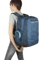 Backpack Schoolie 2 Compartments Quiksilver Blue youth access kids QBBP3041-vue-porte