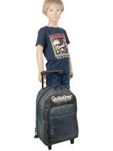 Wheeled Backpack Quiksilver Blue kids QBBP303S-vue-porte