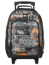 Wheeled Backpack Quiksilver Gray youth access kids QBBP303S