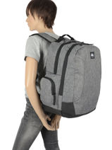 Backpack New Night 2 Compartments Quiksilver Gray youth access QYBP35S7-vue-porte