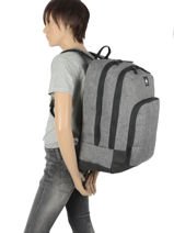 Backpack Burst 2 Compartments Quiksilver Gray youth access QYBP3573-vue-porte