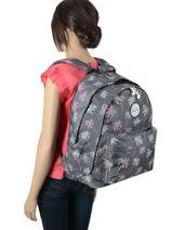 Backpack 2 Compartments Rip curl Blue palmier LBPRN4P1-vue-porte