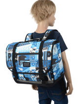 Satchel 2 Compartments Rip curl Blue surf BBPBK5SU-vue-porte