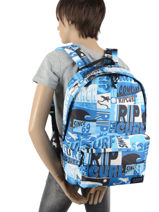 Backpack With Matching Pencil Case Rip curl Blue surf BBPBS5SU-vue-porte